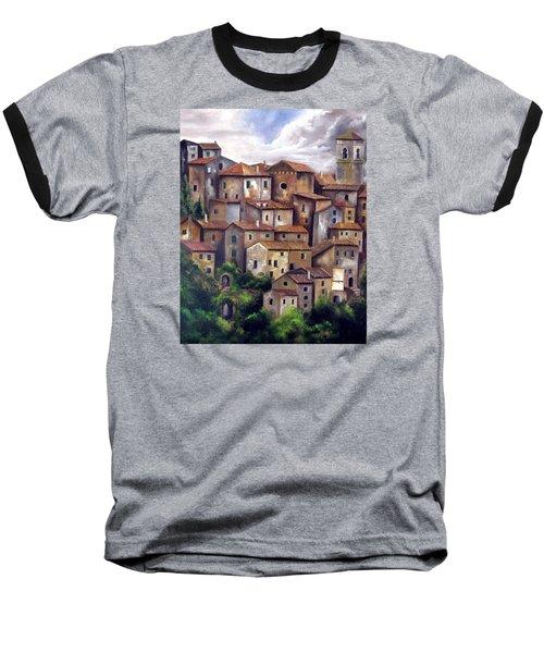 The Old Village Baseball T-Shirt by Katia Aho