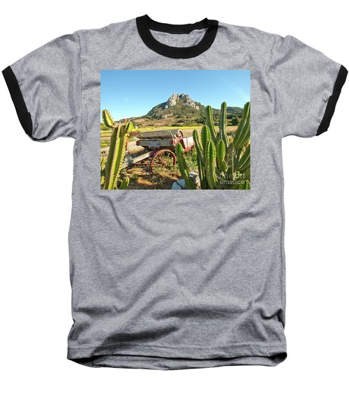The Old Wagon And Cactus Patch In Front Of One Of The Seven Sisters In San Luis Obispo California Baseball T-Shirt