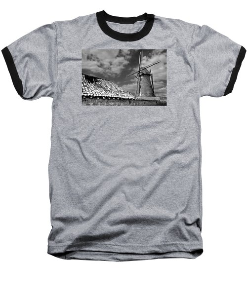 The Old Windmill Baseball T-Shirt by Jeremy Lavender Photography