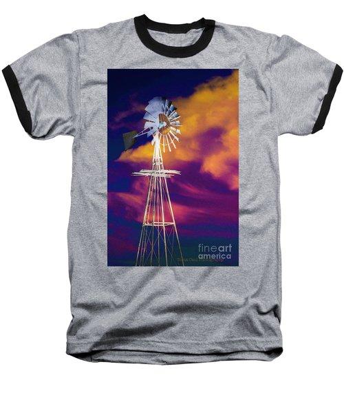 The Old Windmill  Baseball T-Shirt by Toma Caul