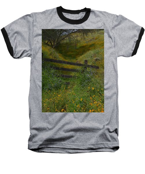 Baseball T-Shirt featuring the photograph The Old Wooden Fence by Debby Pueschel