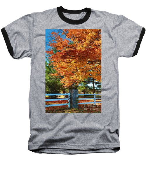 Baseball T-Shirt featuring the photograph The Old Yard Light by Robert Pearson