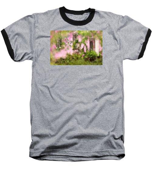 The Olde Pink House In Savannah Georgia Baseball T-Shirt by Carla Parris