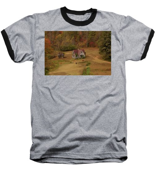 Baseball T-Shirt featuring the digital art The Oldest House In North Carolina by Sharon Batdorf