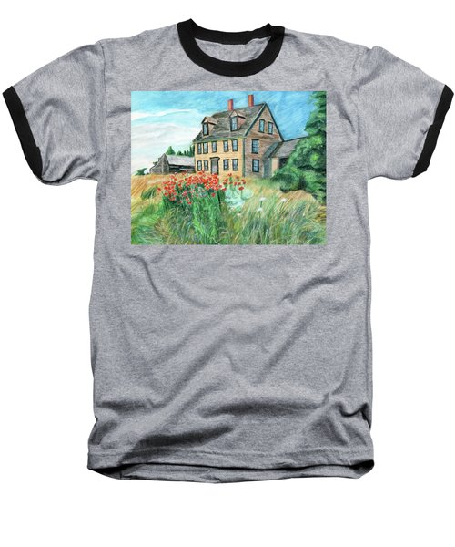 The Olson House With Poppies Baseball T-Shirt