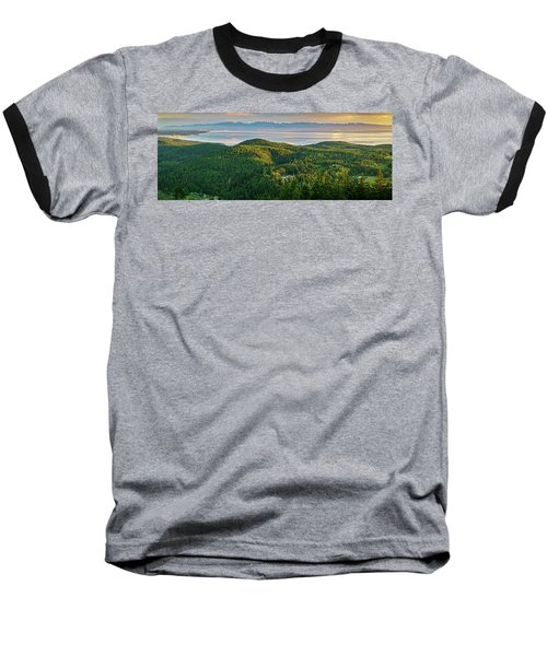 Baseball T-Shirt featuring the photograph The Olympics From Mt Erie by Ken Stanback
