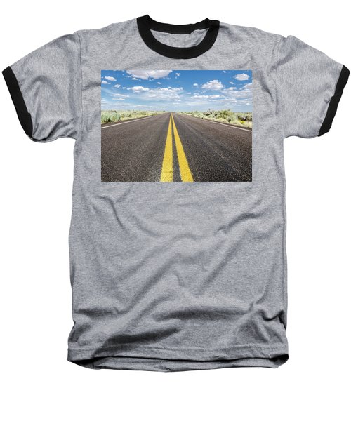 Baseball T-Shirt featuring the photograph The Open Road by Margaret Pitcher