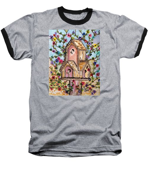 Baseball T-Shirt featuring the painting The Opening Of Spring by Connie Valasco