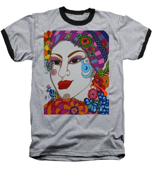 The Opera Singer Baseball T-Shirt by Alison Caltrider