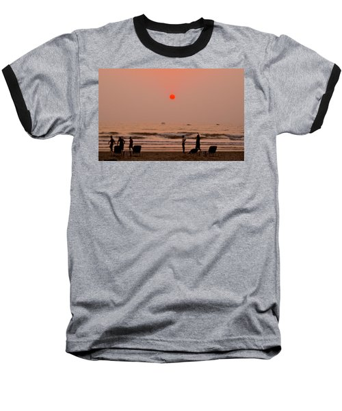 The Orange Moon Baseball T-Shirt