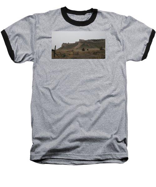 The Oregon Trail Scotts Bluff Nebraska Baseball T-Shirt by Christopher Kirby