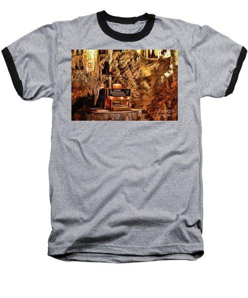 The Organ In Luray Caverns Baseball T-Shirt by Paul Ward