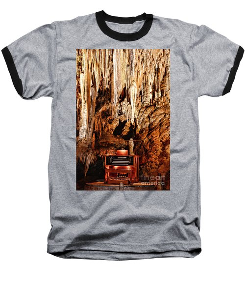 The Organ In The Cavern Baseball T-Shirt by Paul Ward