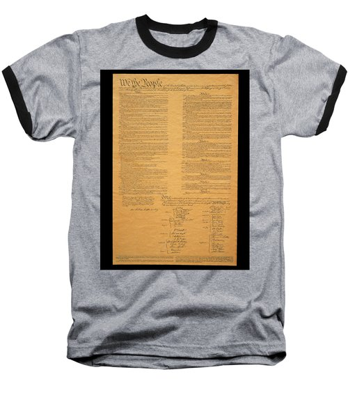 The Original United States Constitution Baseball T-Shirt