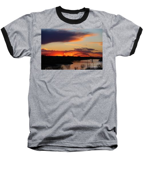 The Other Side Of The Bridge  Baseball T-Shirt by Yumi Johnson