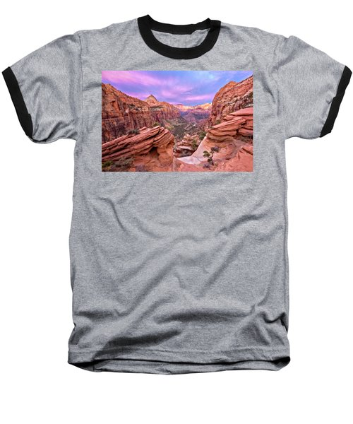 Baseball T-Shirt featuring the photograph The Overlook by Eduard Moldoveanu