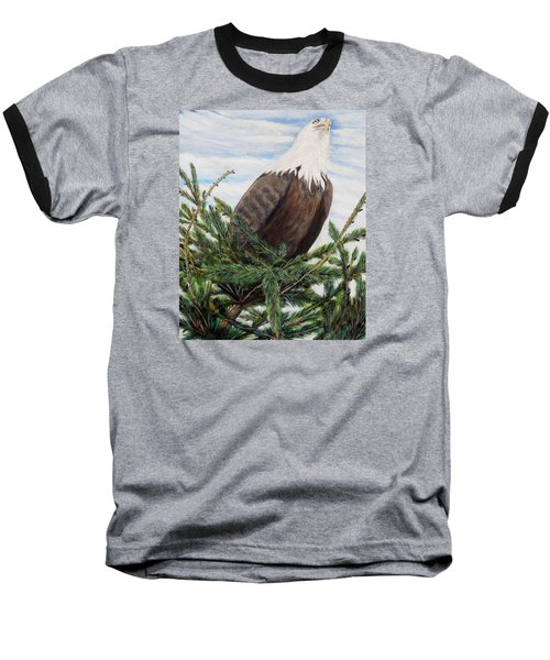 Baseball T-Shirt featuring the painting The Oversee'er by Marilyn  McNish