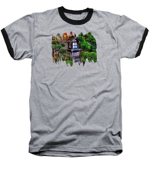 Baseball T-Shirt featuring the photograph The Pagoda At The Japanese Gardens by Thom Zehrfeld