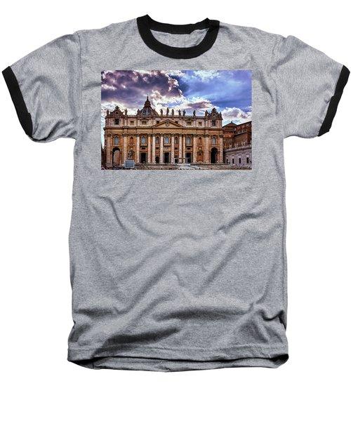 The Papal Basilica Of Saint Peter Baseball T-Shirt