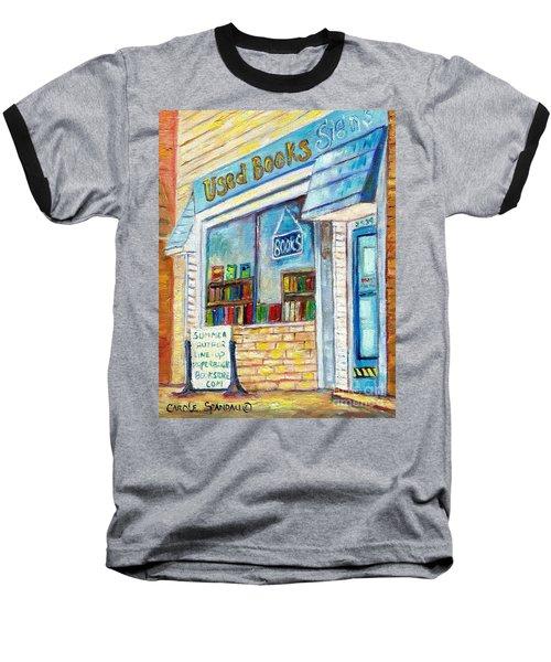 The Paperbacks Plus Book Store St Paul Minnesota Baseball T-Shirt by Carole Spandau