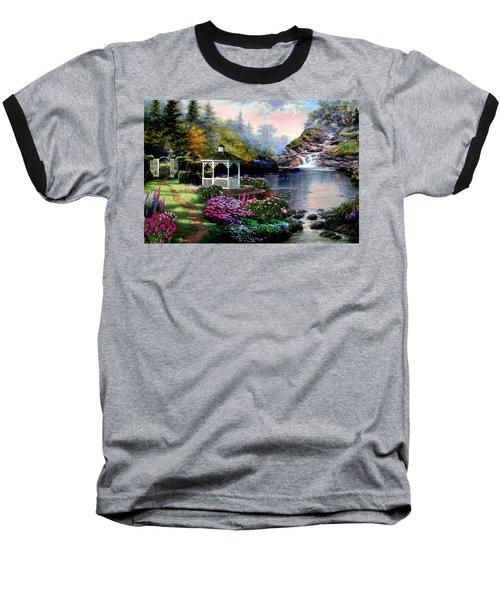 The Path Least Followed Baseball T-Shirt by Ron Chambers