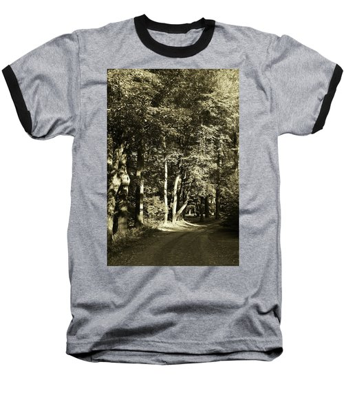 Baseball T-Shirt featuring the photograph The Path Less Traveled by John Schneider