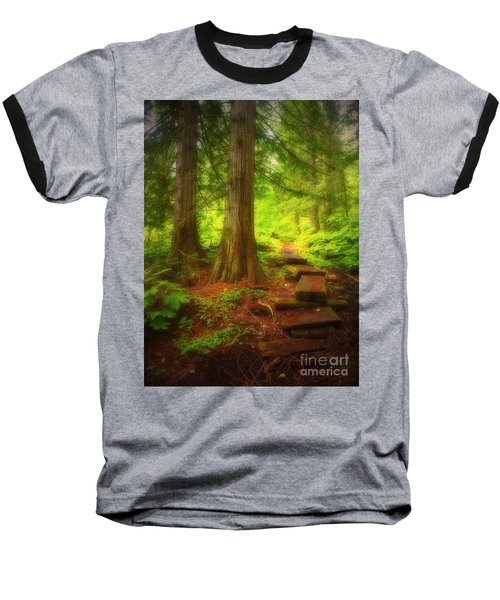 The Path Through The Forest Baseball T-Shirt
