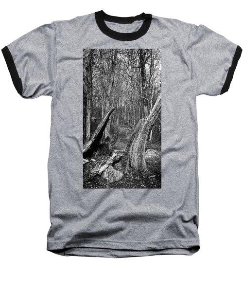 The Path Through The Woods Bandw Baseball T-Shirt