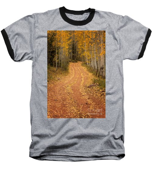 The Pathway To Fall Baseball T-Shirt by Ronda Kimbrow