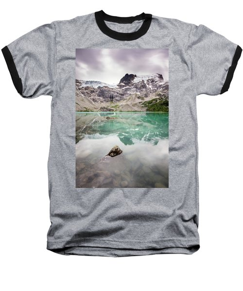 Baseball T-Shirt featuring the photograph The Peak In A Turquoise Lake by Pierre Leclerc Photography