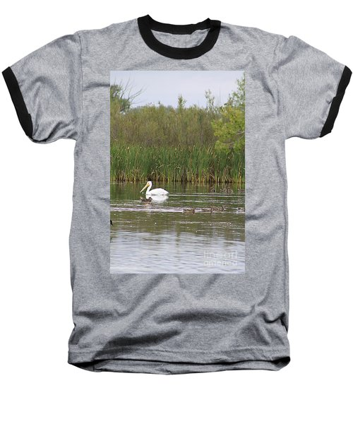 The Pelican And The Ducklings Baseball T-Shirt