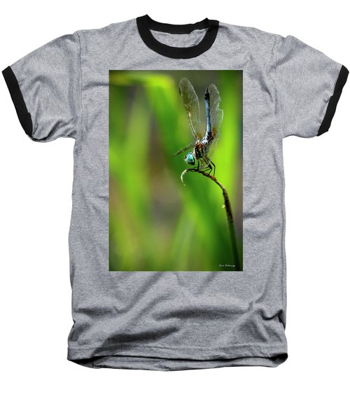 Baseball T-Shirt featuring the photograph The Performer Dragonfly Art by Reid Callaway