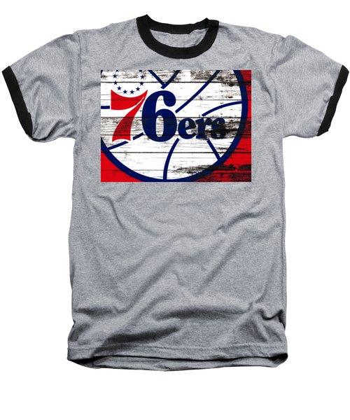 The Philadelphia 76ers 3e       Baseball T-Shirt by Brian Reaves