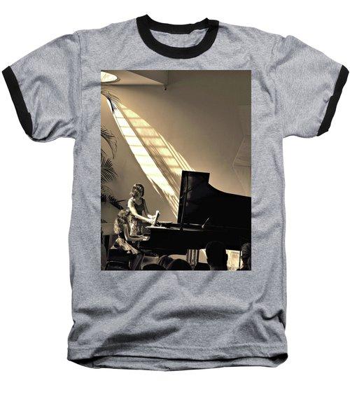 The Pianist Baseball T-Shirt by Beto Machado