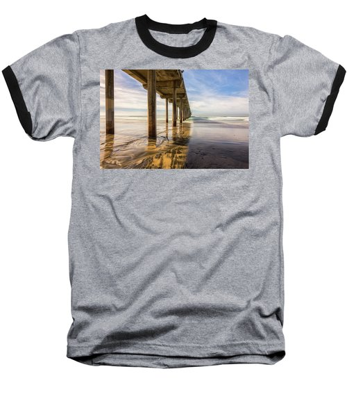 The Pier And Its Shadow Baseball T-Shirt by Joseph S Giacalone