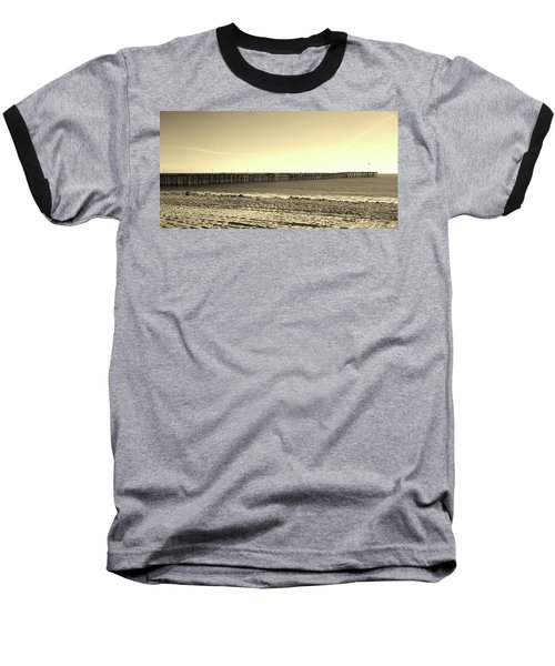 The Pier Baseball T-Shirt by Mary Ellen Frazee