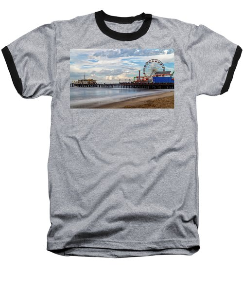 The Pier On A Cloudy Day Baseball T-Shirt