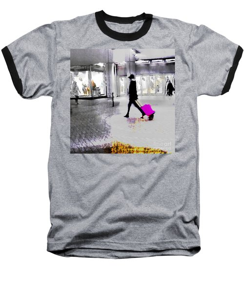 Baseball T-Shirt featuring the photograph The Pink Bag by LemonArt Photography