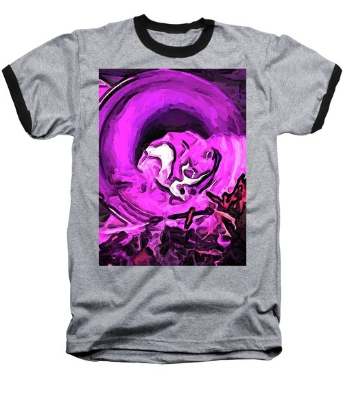 The Pink Cat In The Pink Pot Baseball T-Shirt