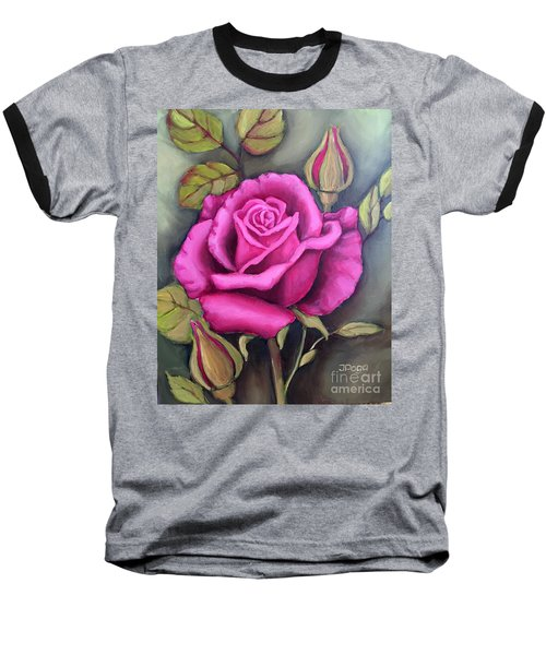 The Pink Rose Baseball T-Shirt