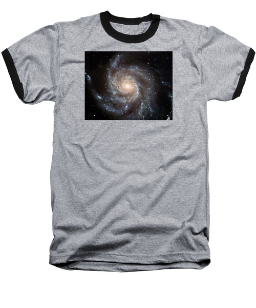 The Pinwheel Galaxy  Baseball T-Shirt by Hubble Space Telescope