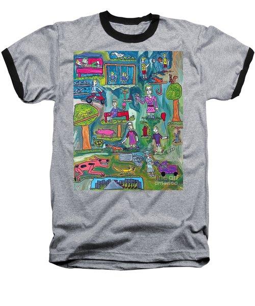The Playground Baseball T-Shirt by Brandon Drucker