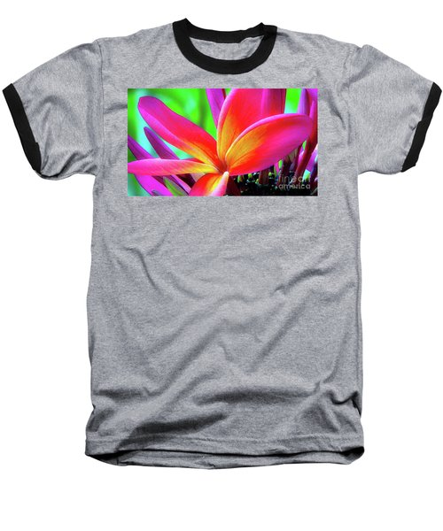 The Plumeria Flower Baseball T-Shirt