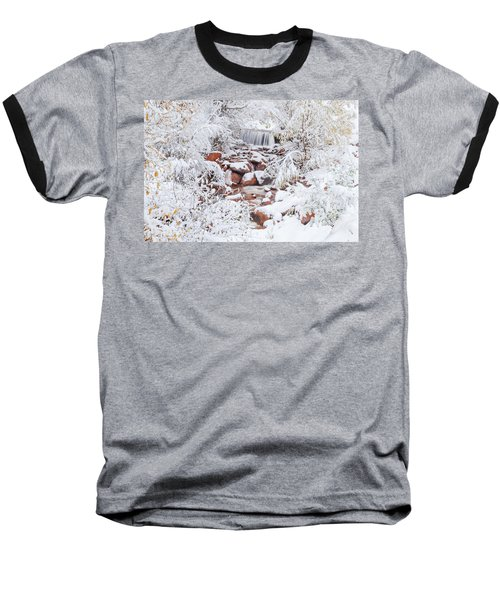 The Poetic Beauty Of Freshly Fallen Snow  Baseball T-Shirt by Bijan Pirnia