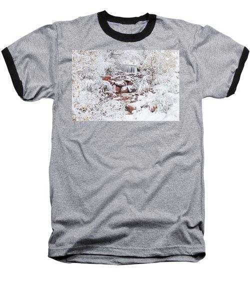 The Poetic Beauty Of Freshly Fallen Snow  Baseball T-Shirt