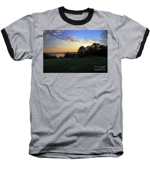 The Point At Sunrise Baseball T-Shirt