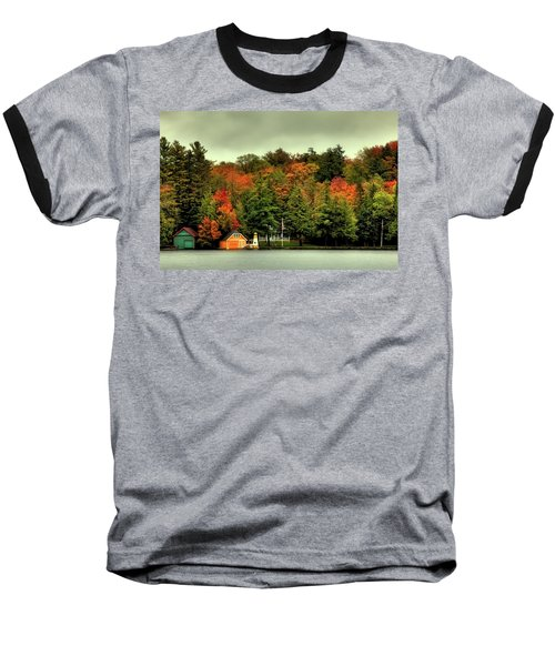 The Pond In Old Forge Baseball T-Shirt by David Patterson