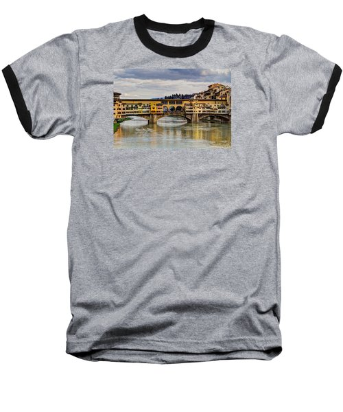 Baseball T-Shirt featuring the photograph The Ponte Vecchio by Wade Brooks