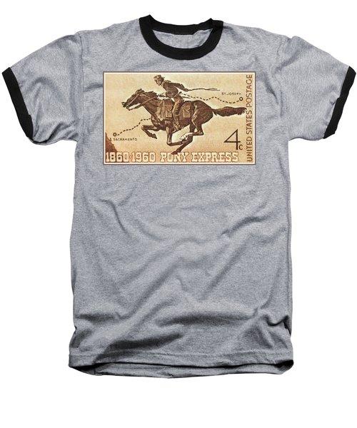 The Pony Express Centennial Stamp Baseball T-Shirt