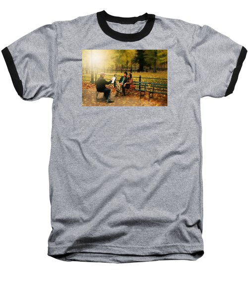 The Portraiture Baseball T-Shirt by Diana Angstadt